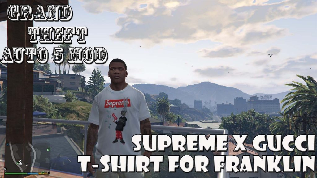 Supreme x Gucci T-Shirt For Franklin Mod For GTA5