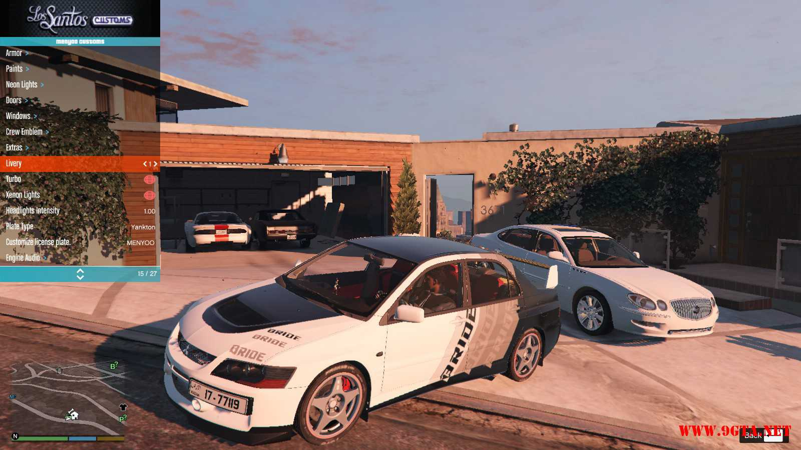 Mitsubishi Evolution IXFQ360 GTA5 mods (1)