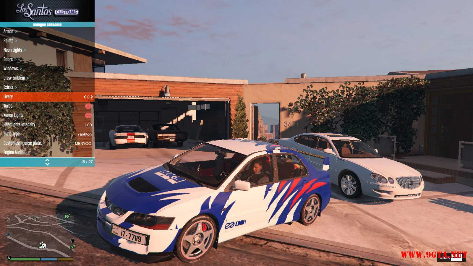 Mitsubishi Evolution IXFQ360 GTA5 mods (2)