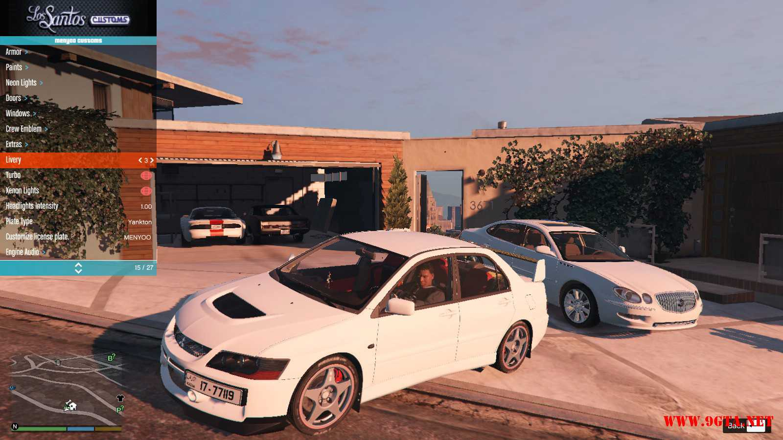 Mitsubishi Evolution IXFQ360 GTA5 mods (3)