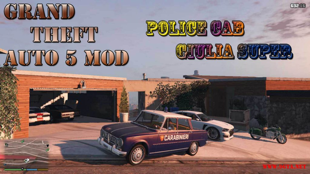 Police Car Giulia Super Mod For GTA5