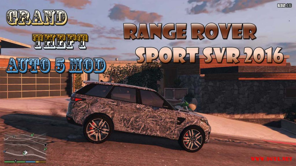 2016 Range Rover Sport SVR Mod For GTA5