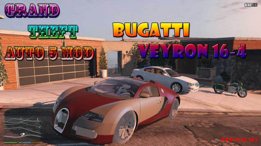 Bugatti Veyron 16-4 Mod For GTA5