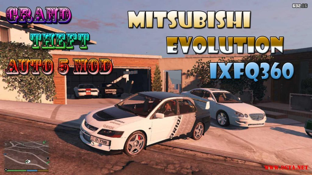 Mitsubishi Evolution IXFQ360 Mod For GTA5