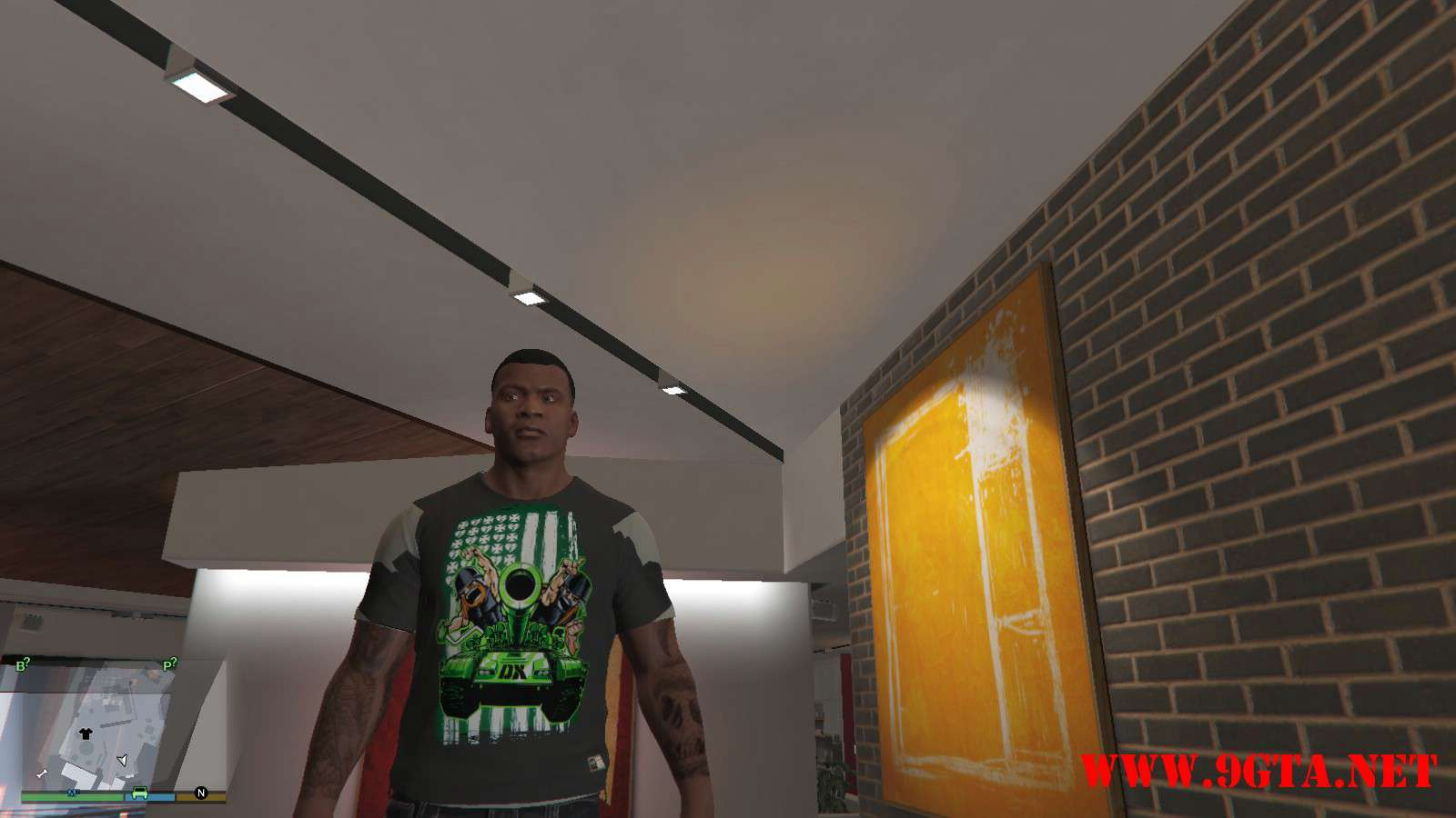 DX Tank Shirt On Franklin GTA5 Mods (1)