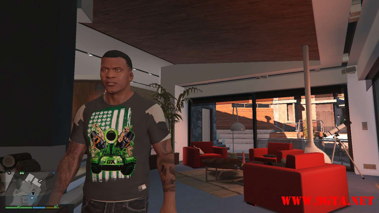 DX Tank Shirt On Franklin GTA5 Mods (4)