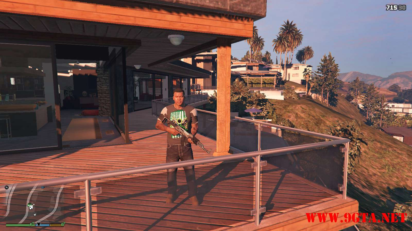 DX Tank Shirt On Franklin GTA5 Mods (7)