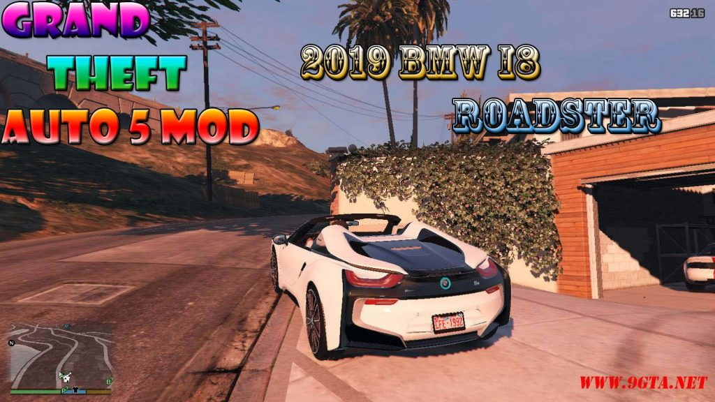 2019 BMW I8 Roadster Mod For GTA5