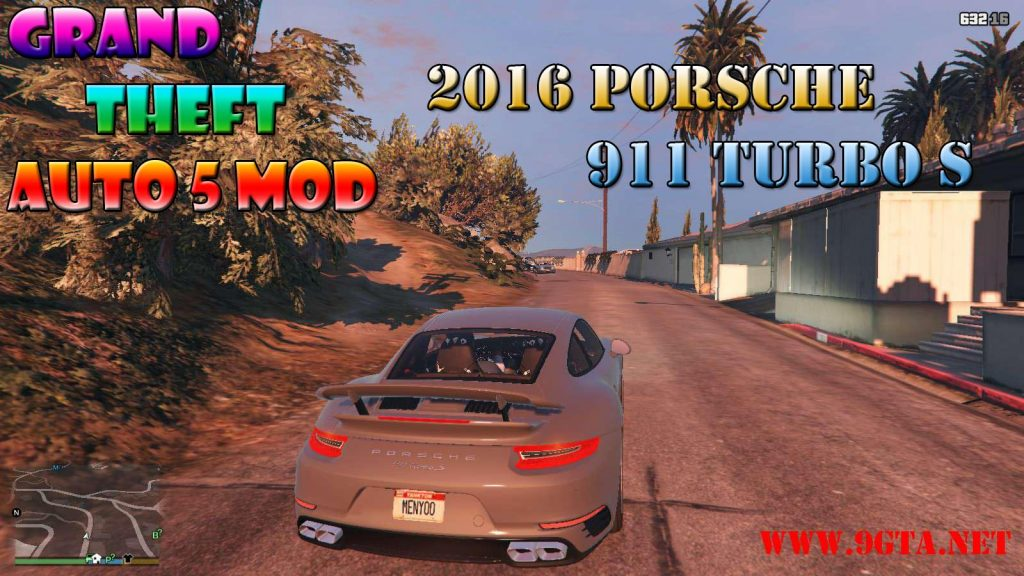 2016 Porshce 911 Turbo S Mod For GTA5