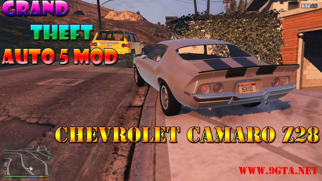 Chevrolet Camaro Z28 '70 v1.1 Mod For GTA5