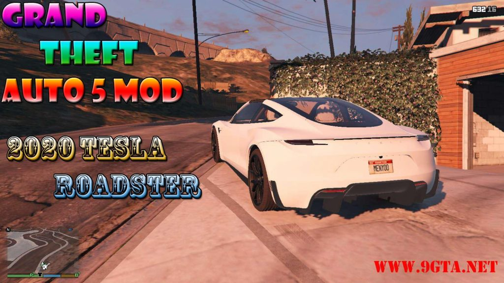 2020 Tesla Roadster Mod For GTA5