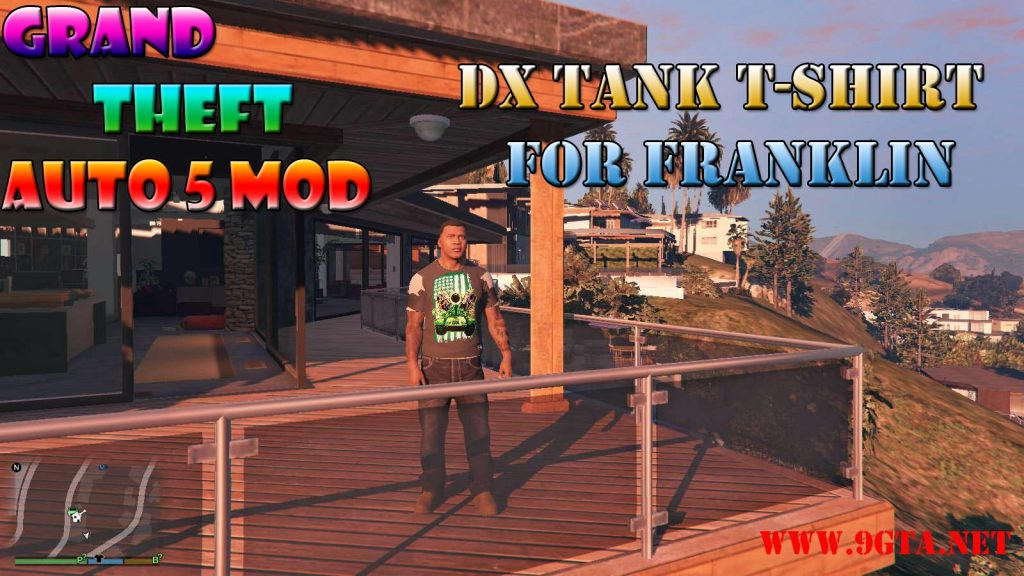 DX Tank T-Shirt On Franklin Mod For GTA5