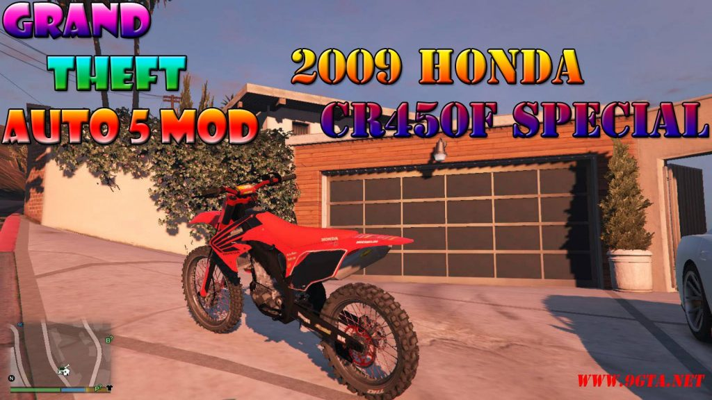 2009 Honda CR450F Special Edition Mod For GTA5