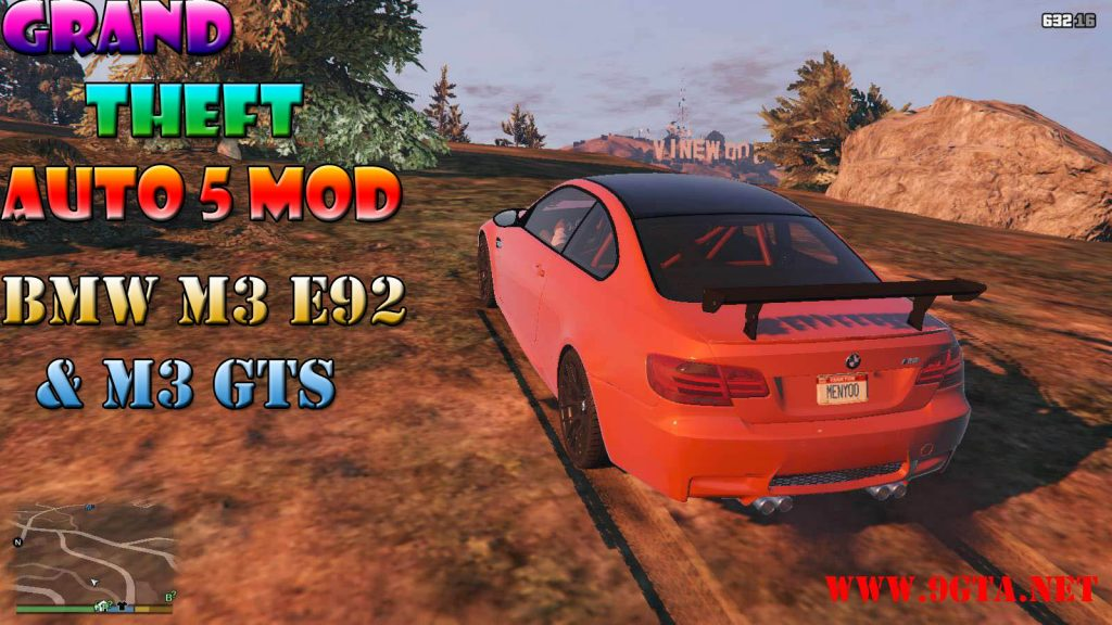 BMW M3 E92 + M3 GTS Mod For GTA5