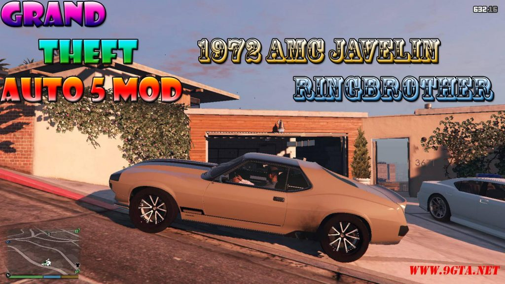 1972 AMC Javelin Ringbrother Defiant Mod For GTA5