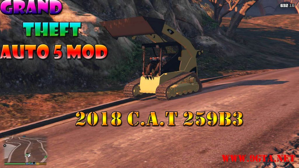 2018 C.A.T Truck 259B3 Mod For GTA5