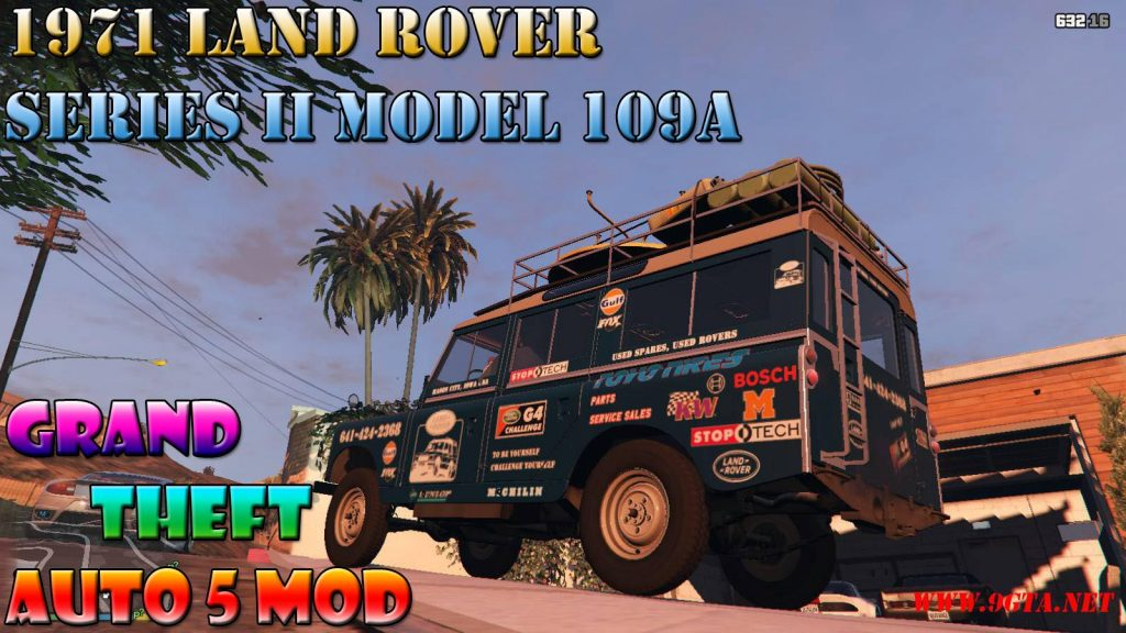 1971 Land Rover Series II Model 109A Mod For GTA5