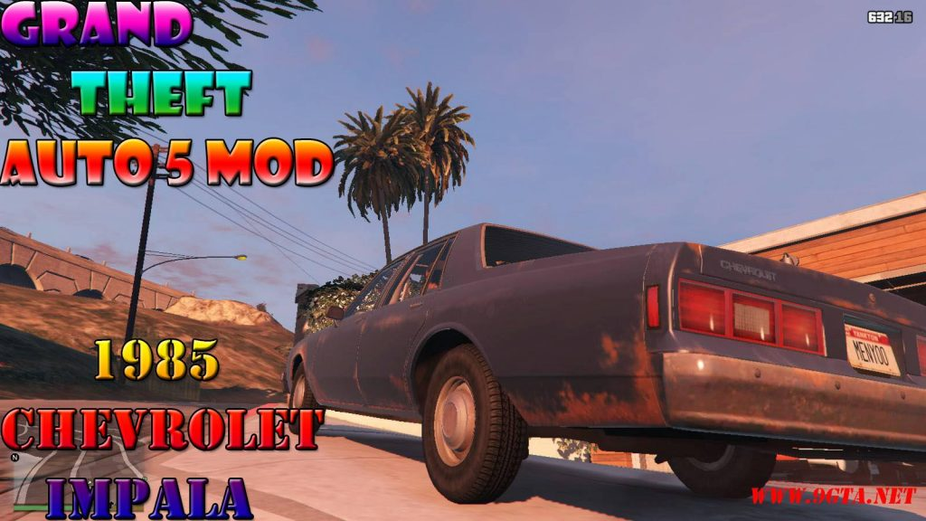 1985 Chevrolet Impala v1.1 Mod For GTA5