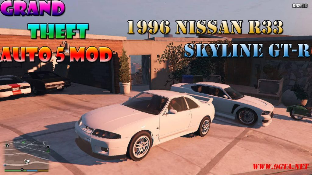 1996 Nissan Skyline GT-R R33 Mod For GTA5