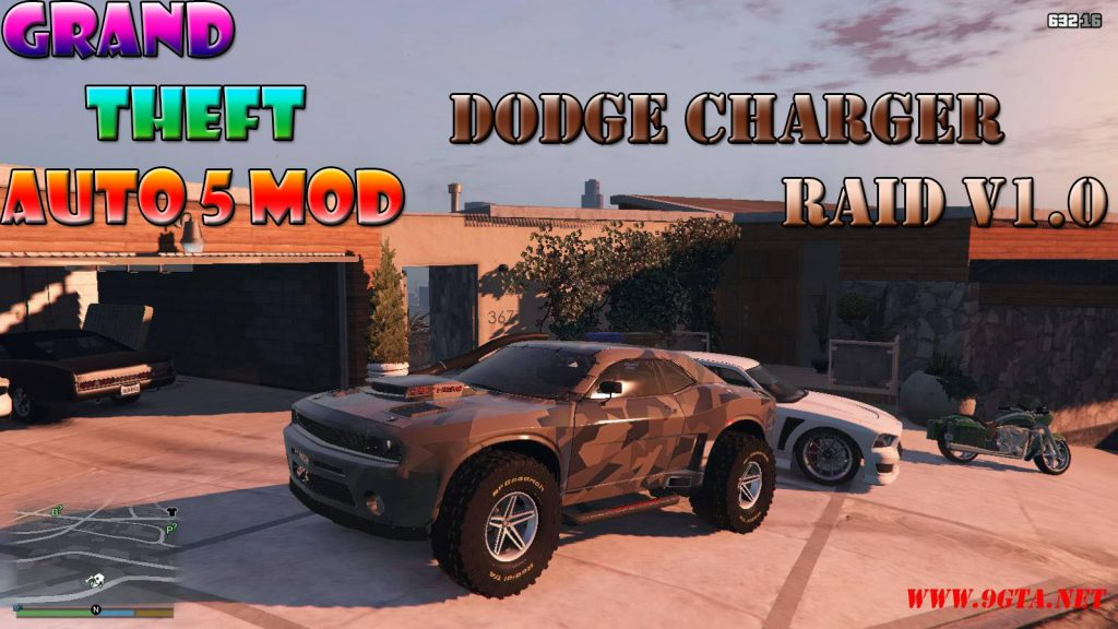 Dodge Charger RAID v1.0 Mod For GTA5