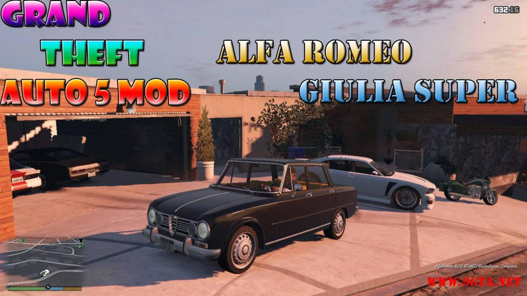 Alfa Romeo Giulia Super Mod For GTA5