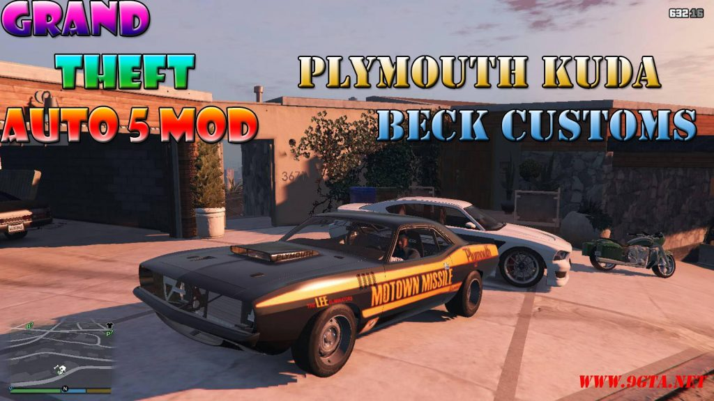 Plymouth Kuda Beck Customs Mod For GTA5
