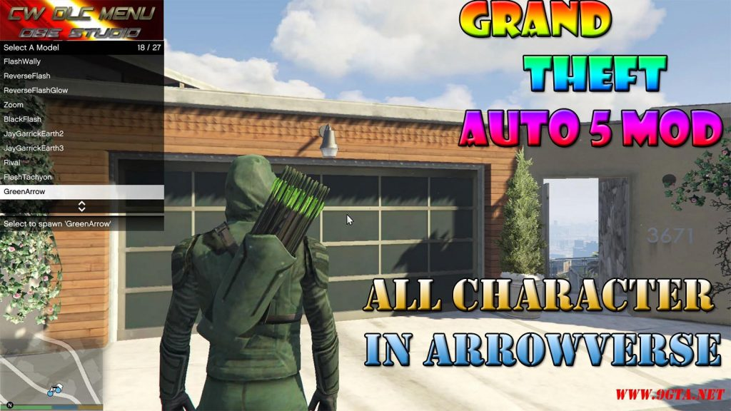 All Arrowverse Character Mod For GTA5
