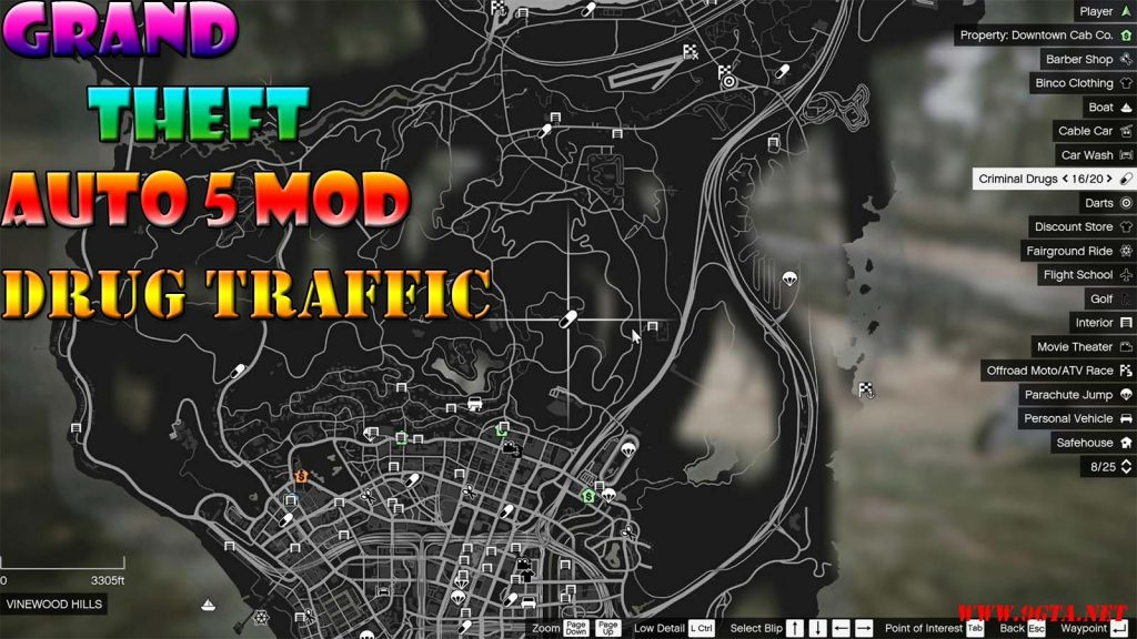 Drug Traffic Mod For GTA5