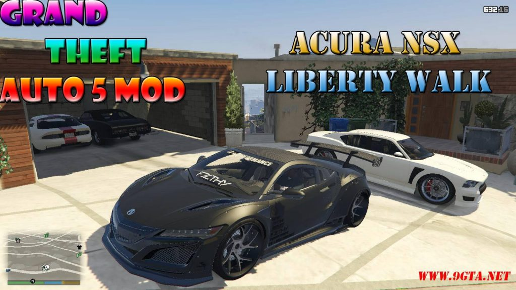 Acura NSX Liberty Walk Mod For GTA5