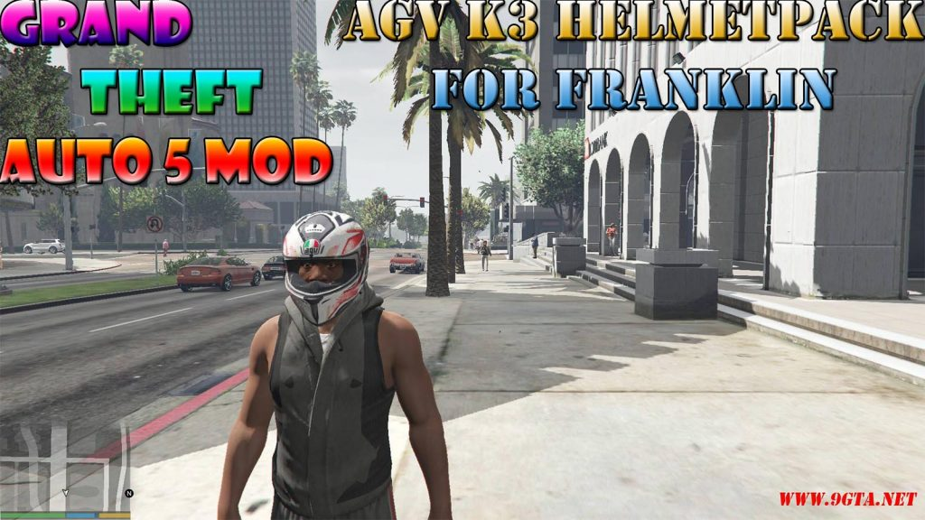 AGV K3 SV Helmet Pack For Franklin Mod For GTA5