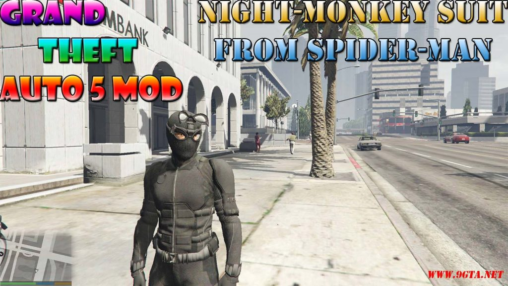 Night-Monkey Suit From Spider-Man Movie Mod For GTA5