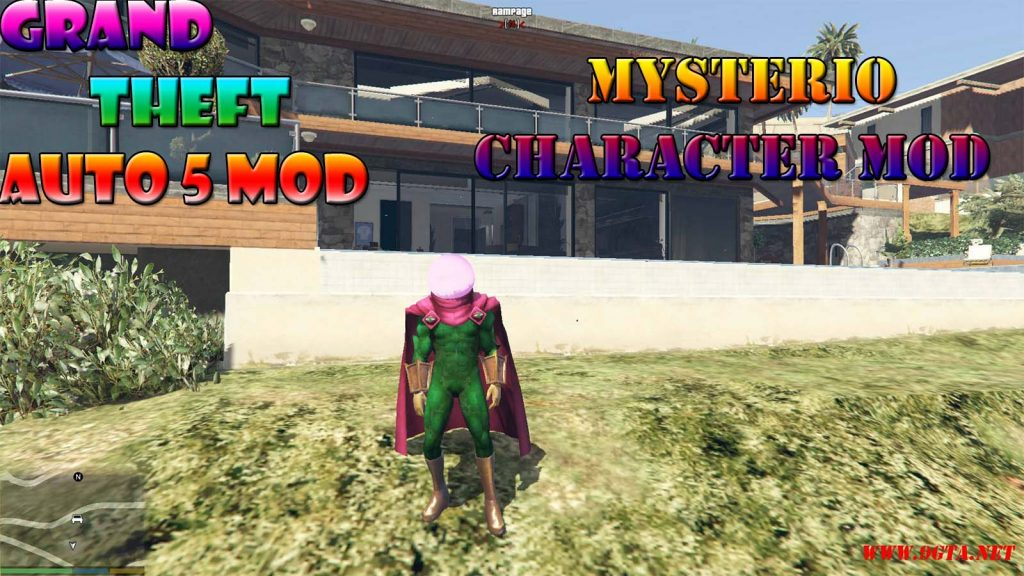 Mysterio Character From Spider-Man Far From Home Mod For GTA5