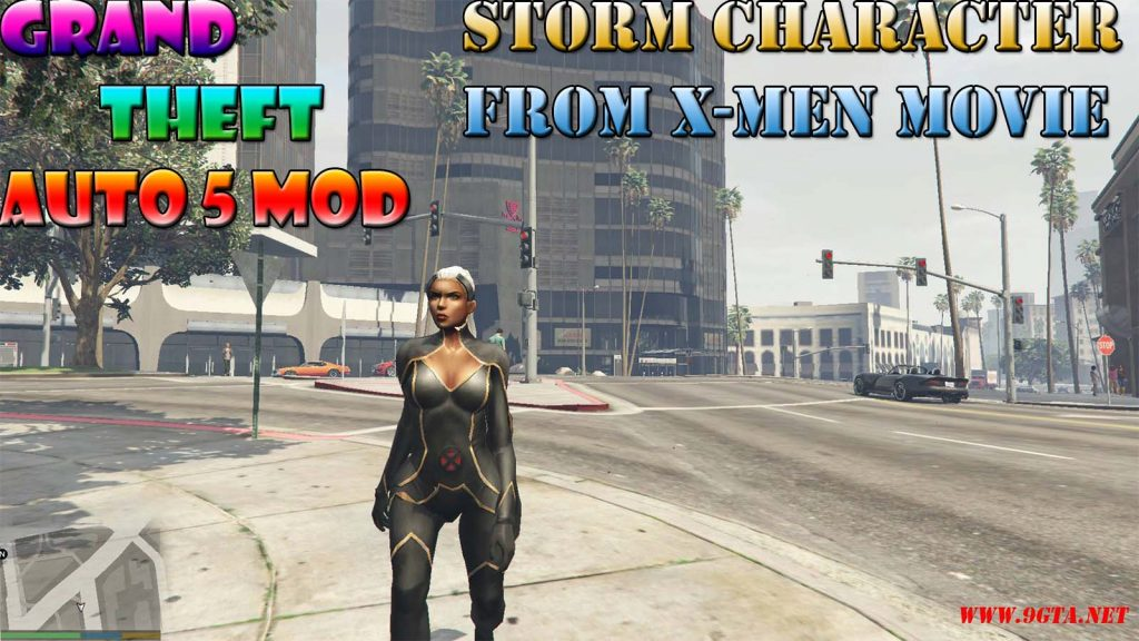 Storm Character From X-Men Red Mod For GTA5