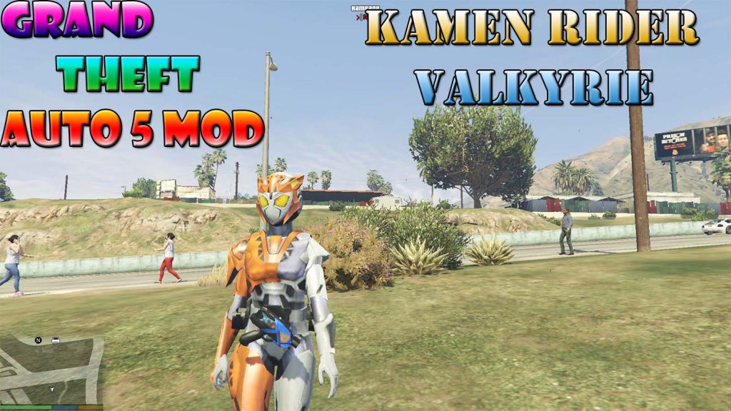 Kamen Rider Valkyrie Character Mod For GTA5