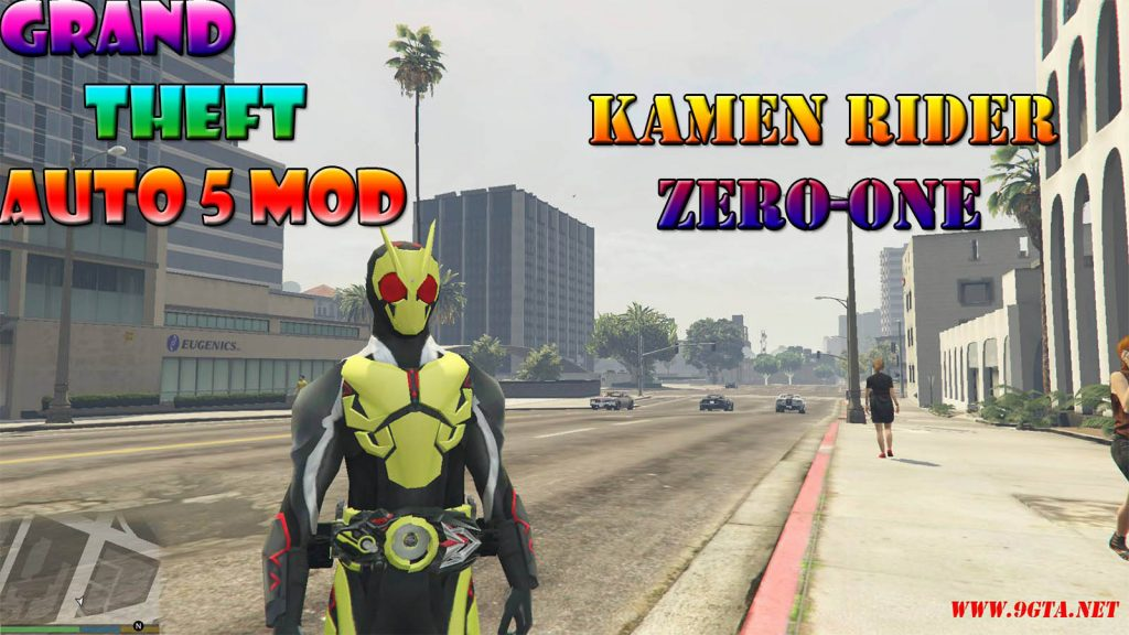 Kamen Rider Zero-One Character Mod For GTA5