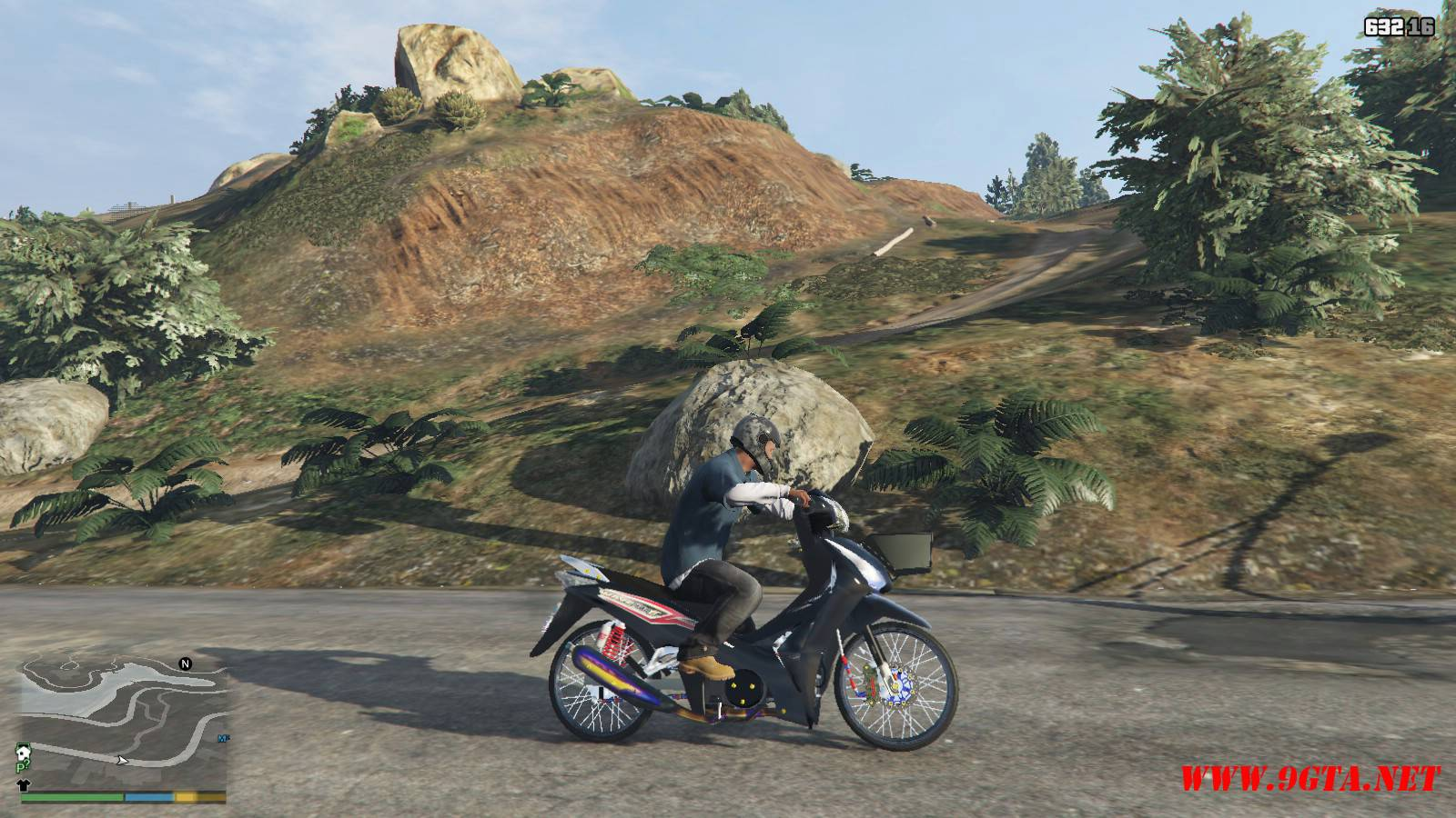 2015 Honda Wave 125i Mod For GTA5 (10)