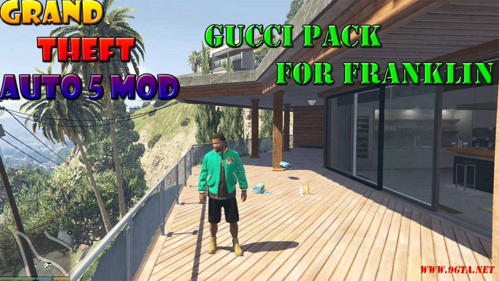 Gucci Clothes Pack For Franklin Mod For GTA5