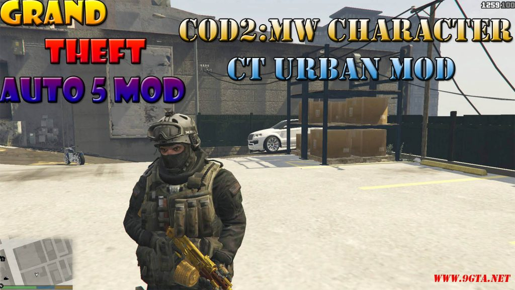 COD2 : Modern Warfare Character CT Urban Mod For GTA5