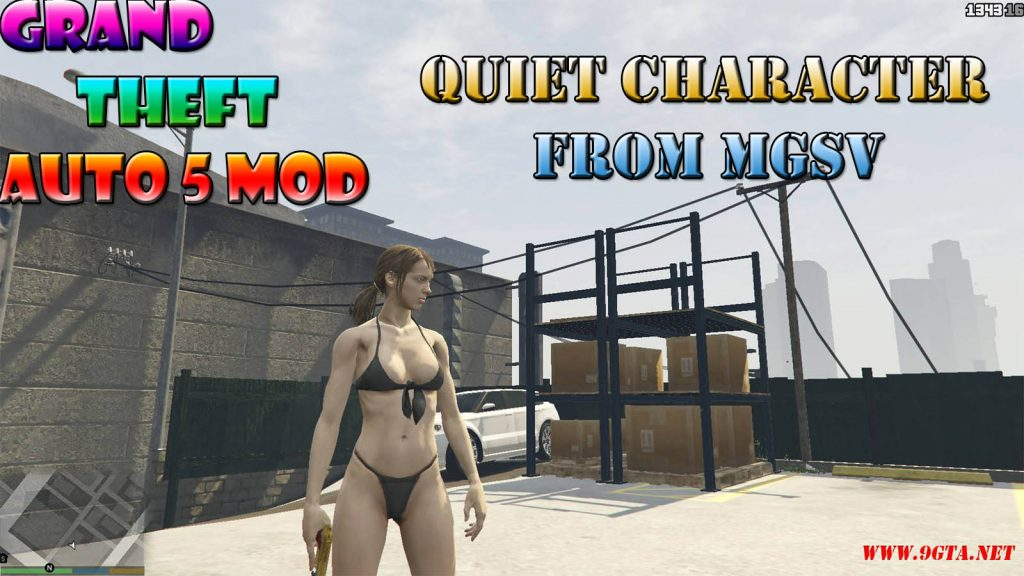 Quiet Character From Metal Gear Solid V With Bikini Mod For GTA5