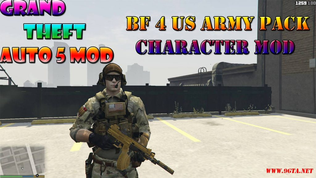BF4 Us Army Character Pack Mod For GTA5