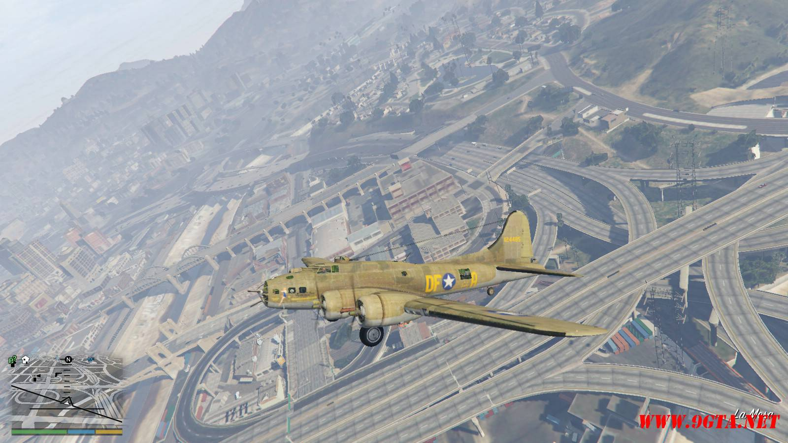 B-17E Flying Fortress Mod For GTA5 (1)