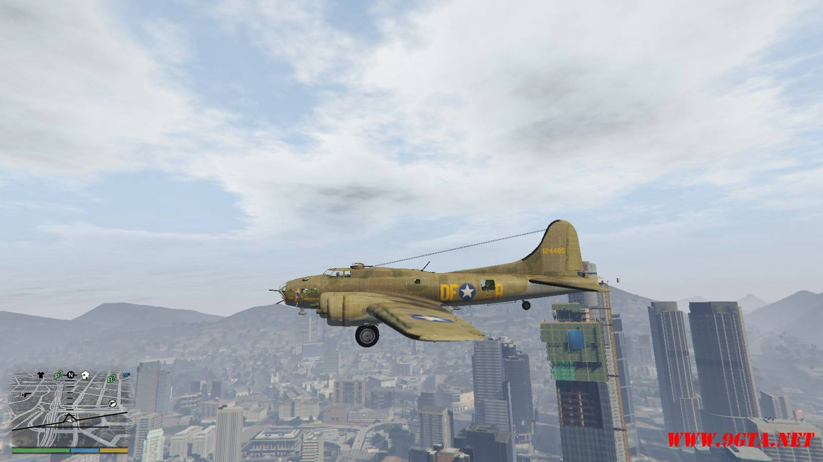 B-17E Flying Fortress Mod For GTA5 (6)