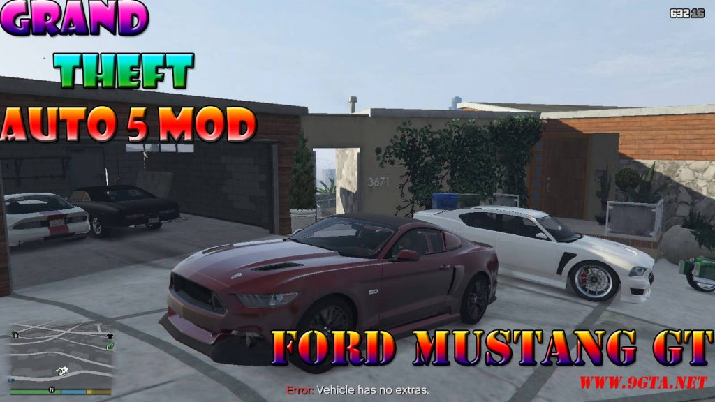 2015 Ford Mustang GT v1.0 Mod For GTA5