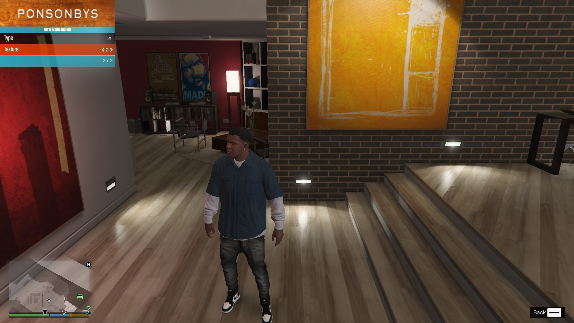 Sagged Jeans For Franklin GTA5 Mods (6)