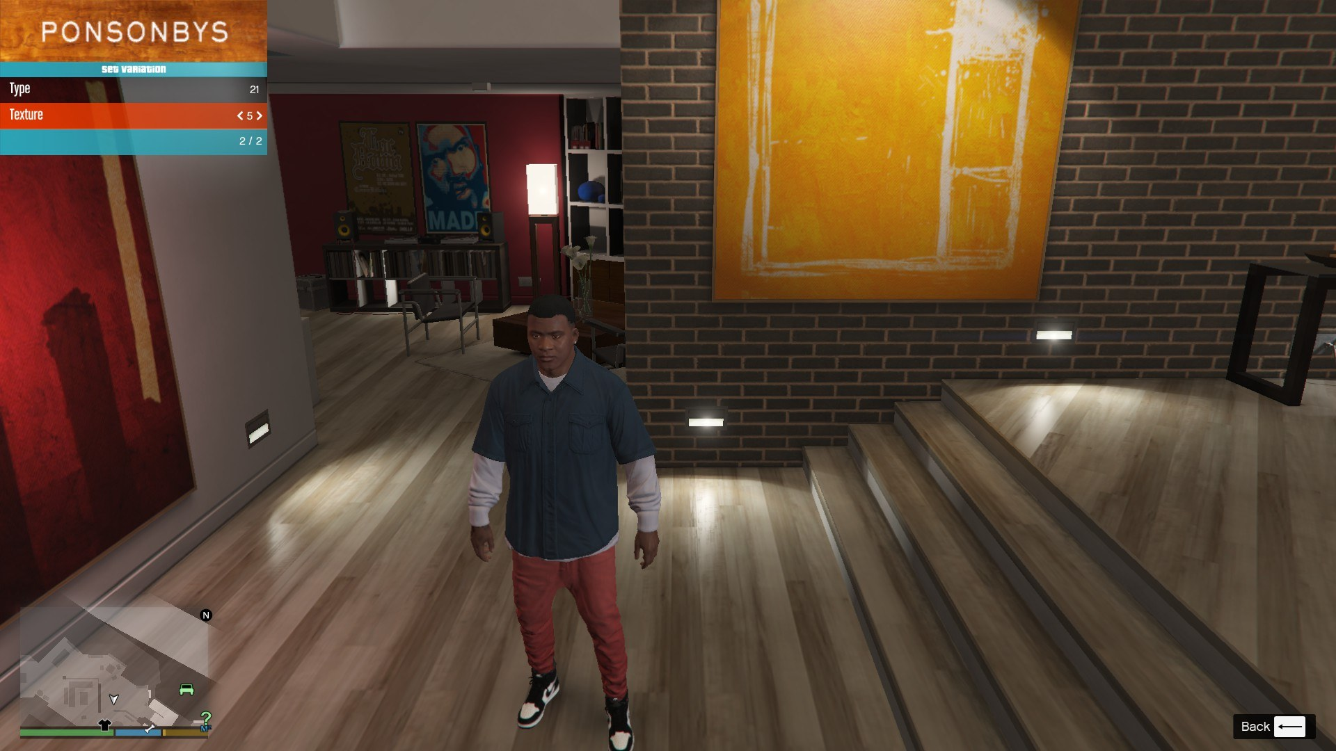 Sagged Jeans For Franklin GTA5 Mods (8)