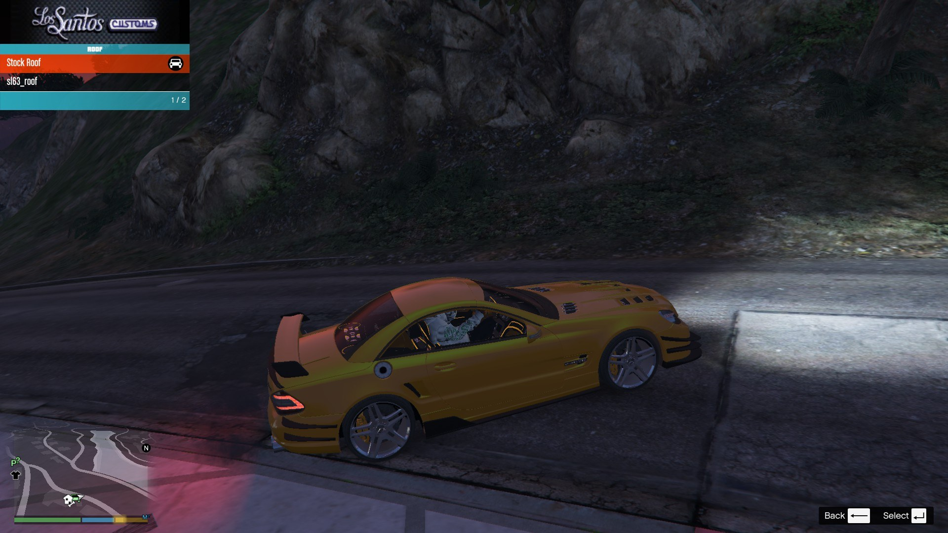 Mercedes Benz SL63AMG GTA5 Mods (3)