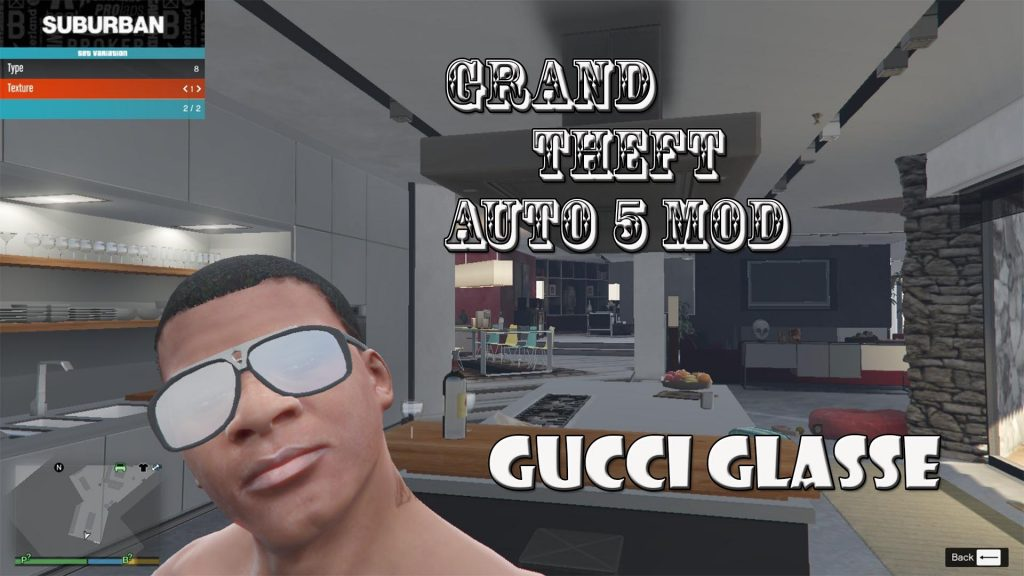 Gucci Glass For Franklin Mod For GTA5