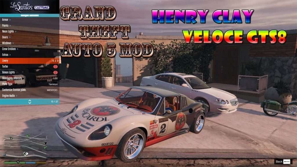 Henry Clay Veloce GTS8 Mod For GTA5