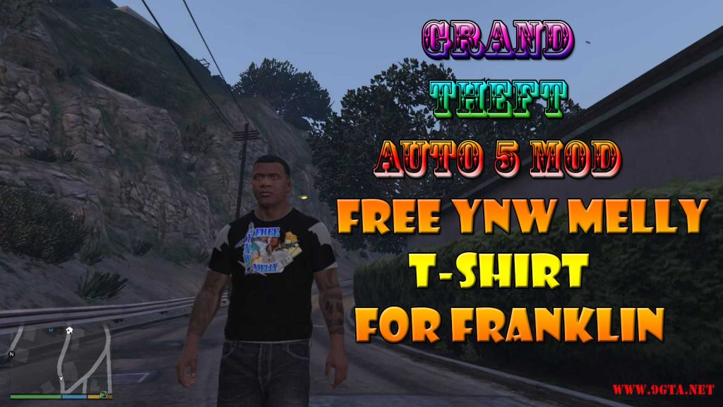 Free YNW Melly T-Shirt For Franklin Mod For GTA5