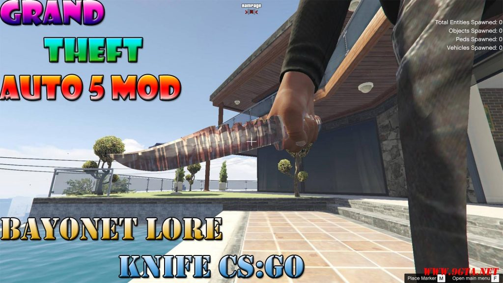 Bayonet Lore Knife CS:GO Mod For GTA5